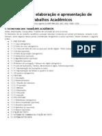 Normas para trabalhos acadêmicos