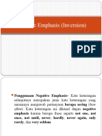Negative Emphasis (Inversion)