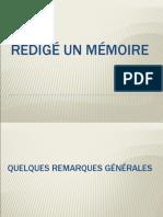 Rédigé Un Mémoire.