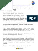 Scrisoarea lui Dominic Fritz pentru Valeriu Gheorghiță