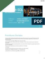 3.SGBD (Procédure & Fonctions)