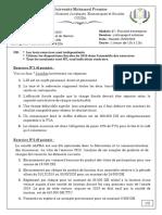 Fiscalité- Rattrapage- 2020 Énoncé Solution