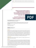 MODELO DE EDUCACIÓN FLEXIBLE Y COMPETENCIAS MULTIGRADO EN INSTITUCIONES EDUCATIVAS RURALES DE LOS MUNICIPIOS NO CERTIFICADOS DEL VALLE DEL CAUCA-COLOMBIA