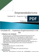 Unidade 05 - Aspectos Organizacionais e de RH