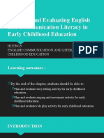 CHAPTER 5 Planning and Evaluating English and Communication Literacy in Early Childhood Education