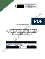 Dn Servicio Educativo 2021- Socialización