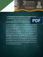 III ENCUENTRO DE EGRESADOS EN CRIMINALÍSTICA GR