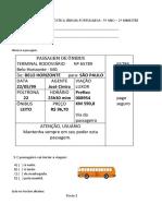 Avaliação Diagnóstica 5 Ano de Português Em WORD. (1)