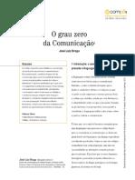 Braga, José Luiz. O grau zero da comunicação (2015)