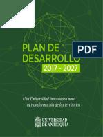 Plan Desarollo UdeA 2017 - 2027