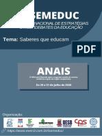 Anais SEMEDUC 2020 - IFSP - Semeduc