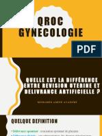 gynecologie QCM ET QROC
