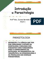 (2) Aula 1 - Introdução à parasitologia
