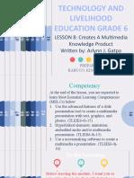 GRADE 6 MODULE IN TECHNOLOGY AND LIVELIHOOD EDUCATION WEEK 8