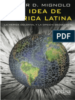 Walter Mignolo La Idea de America Latina 2007
