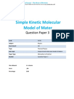 21.3 Simple Kinetic Molecular Model of Matter CIE IGCSE Physics Practical QP