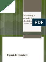 Curs Metodologia Cercetarii