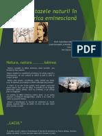 Dor de Eminescu Nivel I Critică Literară Ipostazele Naturii in Lirica Eminesciana Moldovan Cezara