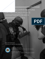 OIG Urgent Recommendations on Search Warrant Policies