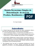 Aula Teorica 3 - Modelo Keynesiano Simples