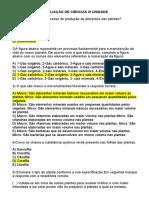 AVALIAÇÃO DE CIÊNCIAS III UNIDADE