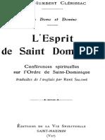 CLÉRISSAC, Humbert (O. P.), L'Esprit de S. Dominique