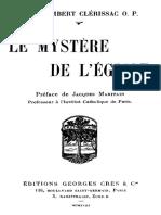 CLÉRISSAC, Humbert, O.P. (1864-1914), Le Mystère de l'Église, Paris