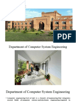 Case Study Computer System Engineering Department