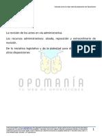 La Revisión de Los Actos Administrativos. Los Recursos Administrativos. Recurso de Alzada Reposición y Extraordinario de Revisión (1)