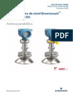 Guia de Início Rápido Rosemount 5408 e 5408 Sis Transmissores de Nível Antena Parabólica Pt 264770