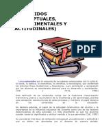 contenidos conceptuales, procedimentales y actitudinales_con ejemplos