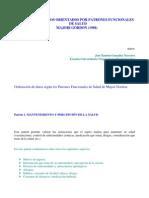 M. GORDON - CUIDADOS BÁSICOS ORIENTADOS POR PATRONES FUNCIONALES DE SALUD