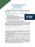 O Modo de Ser do Direito - Fernando Bronze em Lições de Introdução ao Direito
