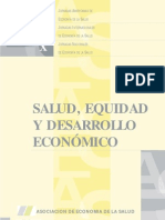 IX Jornadas AES Argentina Salud Equidad y Desarrollo Economico 2000