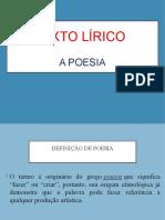 Texto Lírico - A Poesia (Blog8 10-11)