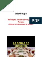 Escatologia - Tribunal de Cristo e Bodas do Cordeiro