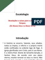 Escatologia - novos céus e nova terra