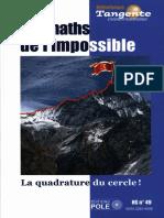 Gilles Cohen, Collectif - Tangente, Hors-série N° 49 _ Les maths de l'impossible _ La quadrature du cercle ! (2014, POLE Production et organisation du loisir éducatif)