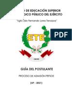2. GUÍA DEL POSTULANTE PEFSOE AF-2021