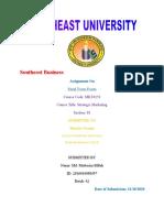 Strategic Marketing - Finalterm Exam