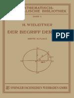 Dr. H. Wieleitner - Der Begriff der Zahl in Seiner Logischen und Historischen Entwicklung