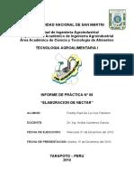 Informe 8- Preparación de Nectar
