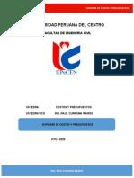 SOFWAR DE COSTOS Y PRESUPUESTOS