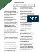 Lineamientos de Evaluacion CBI 2011