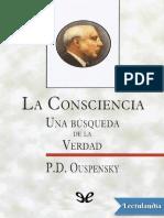 La Consciencia - P. D. Uspenskii