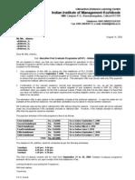 ePGP - Admission Offer Letter - Specimen copy