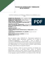 INFORME PROCESO DE CONTRATACIÓN Y TERMINACIÓN DE UN CONTRATO