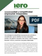 Sostenibilidad y Competitividad de Las Empresas