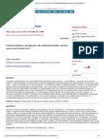 MANCEBO, D. Modernidade e produção de subjetividades