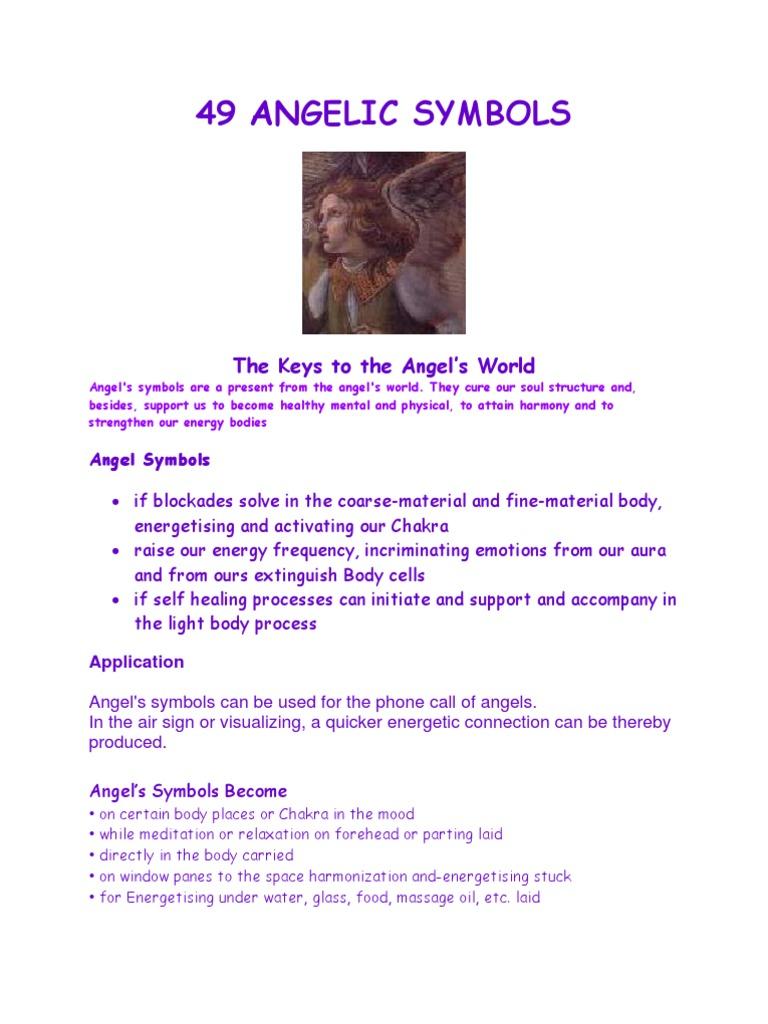 Angel Keys 49 Angel Symbols Archangel Angel